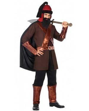 Fato Guerreiro Mongol Adulto para Carnaval