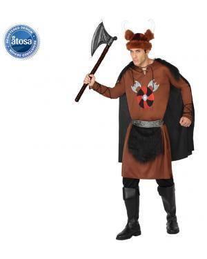 Fato Guerreiro Viking Salvagem Adulto Disfarces A Casa do Carnaval.pt