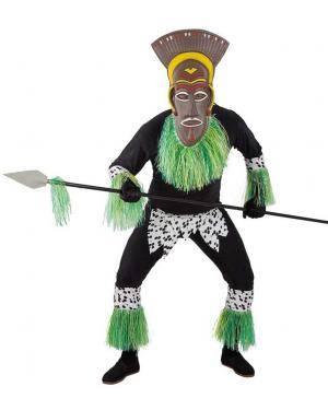 Fato de Guerreiro Zulu Homem para Carnaval   A Casa do Carnaval.pt