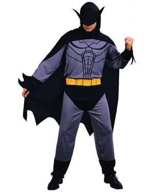 Fato Herói Morcego Preto Adulto Disfarces A Casa do Carnaval.pt