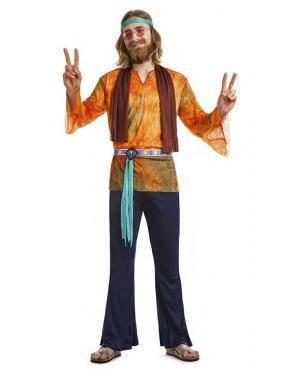 Fato Hippie Anos 60 Homem T. M/L Disfarces A Casa do Carnaval.pt