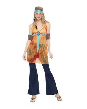 Fato Hippie Anos 60 Mulher T. M/L Disfarces A Casa do Carnaval.pt