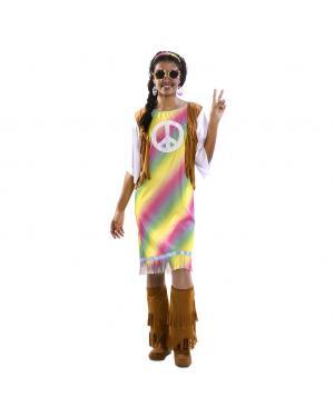 Fato Hippie Arco Iris Mulher Tamanho M/L para Carnaval