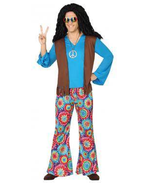Fato Hippie Azul Adulto Disfarces A Casa do Carnaval.pt