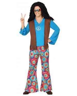 Fato Hippie Azul Adulto Disfarces A Casa do Carnaval.pt