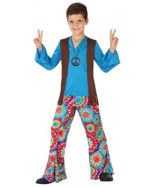 Fato Hippie Azul Menino Disfarces A Casa do Carnaval.pt