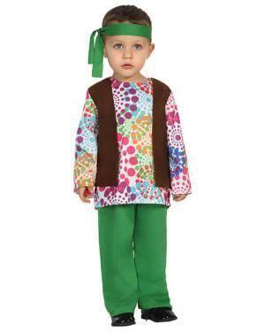 Fato Hippie Bebé de 6-12 meses Disfarces A Casa do Carnaval.pt