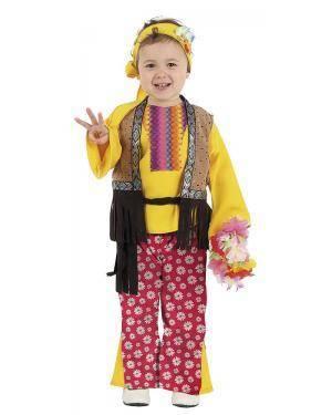 Fato de Hippie Bebé Menina para Carnaval | A Casa do Carnaval.pt