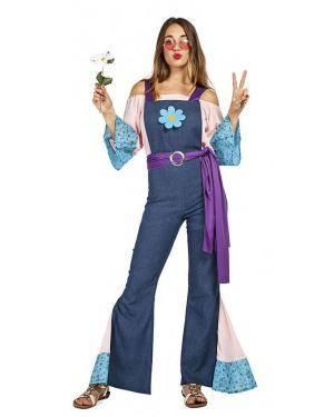 Fato Hippie Calças Mulher T. M/L Disfarces A Casa do Carnaval.pt