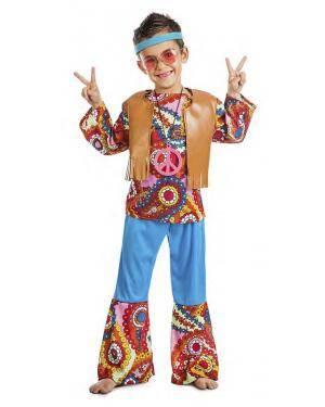 Fato Hippie Colete Menino 7-9 Anos Disfarces A Casa do Carnaval.pt