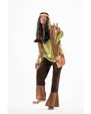 Fato Hippie Homem Homem T. M/L Disfarces A Casa do Carnaval.pt