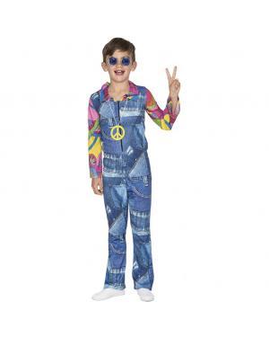 Fato Hippie Jeans Menino para Carnaval
