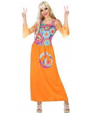 Fato Hippie Laranja Mulher para Carnaval