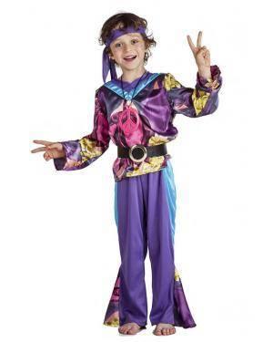 Fato Hippie Lilas Menino 5-6 Anos Disfarces A Casa do Carnaval.pt