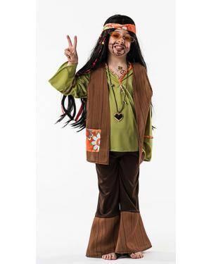 Fato Hippie Menino 8-10 Anos Disfarces A Casa do Carnaval.pt
