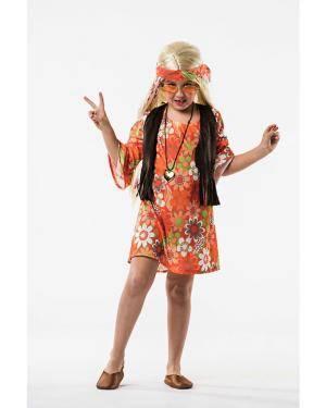 Fato Hippie Mulher Criança 3-5 Anos Disfarces A Casa do Carnaval.pt