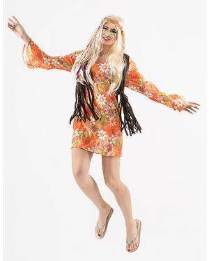 Fato Hippie Mulher T. M/L Disfarces A Casa do Carnaval.pt