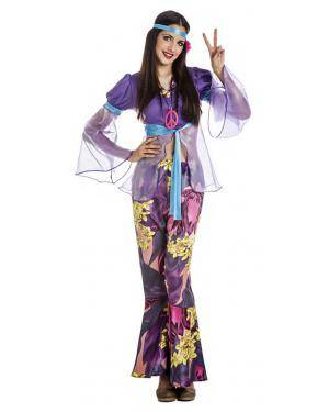 Fato Hippie Mulher Violeta T. M/L Disfarces A Casa do Carnaval.pt