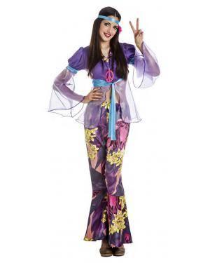 Fato Hippie Mulher Violeta T. XL Disfarces A Casa do Carnaval.pt