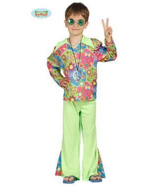 Fato Hippie Multicor para Menino, Loja de Fatos Carnaval, Disfarces, Artigos para Festas, Acessórios de Carnaval, Mascaras, Perucas 713 acasadocarnaval.pt