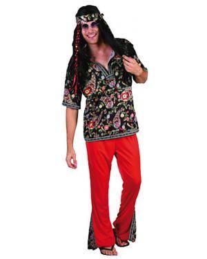 Fato Hippie Psicodélico Adulto Disfarces A Casa do Carnaval.pt