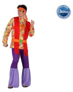 Fato Hippie Psicodelico Homem Disfarces A Casa do Carnaval.pt