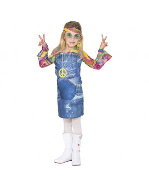Fato Hippie Saia Jeans Menina para Carnaval