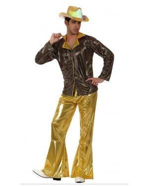 Fato Homem Disco Dourado Disfarces A Casa do Carnaval.pt