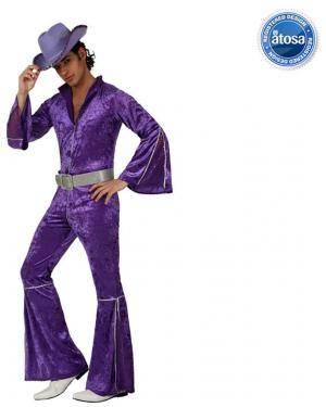 Fato Homem Disco Veludo Púrpura Disfarces A Casa do Carnaval.pt