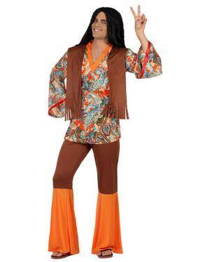 Fato Homem Hippie Adulto Disfarces A Casa do Carnaval.pt