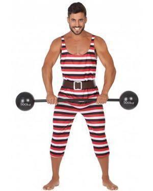 Fato Homem Musculoso Adulto para Carnaval