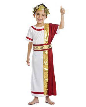 Fato Imperador Romano 3-4 Anos para Carnaval