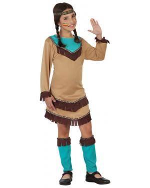 Fato India Apache Azul Menina Disfarces A Casa do Carnaval.pt