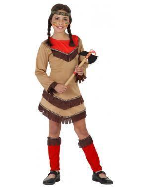 Fato India Apache Vermelho Menina Disfarces A Casa do Carnaval.pt