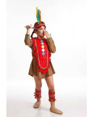 Fato India Selvagem Menina T. 8 a 10 Anos Disfarces A Casa do Carnaval.pt