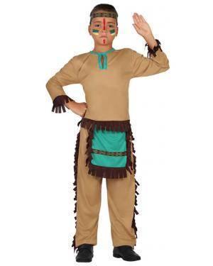 Fato Indio Apache Azul Menino Disfarces A Casa do Carnaval.pt