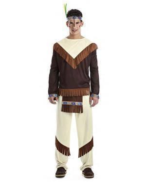 Fato Indio Apache T. M/L Disfarces A Casa do Carnaval.pt