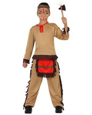 Fato Indio Apache Vermelho Menino Disfarces A Casa do Carnaval.pt