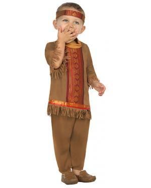 Fato Índio Bebé de 0-6 meses, Loja de Fatos Carnaval, Disfarces, Artigos para Festas, Acessórios de Carnaval, Mascaras, Perucas 462 acasadocarnaval.pt