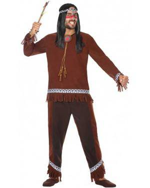 Fato Índio Selvagem Adulto para Carnaval
