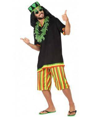 Fato Jamaicano Adulto para Carnaval