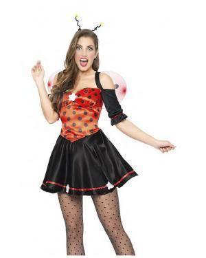 Fato Joaninha Elegante Tamanho S para Carnaval