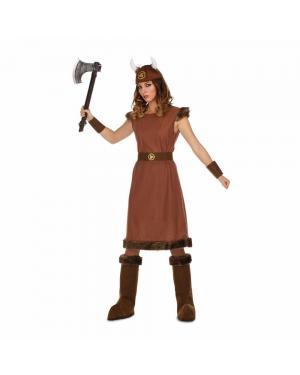 Fato Lady Viking Odin M/L para Carnaval
