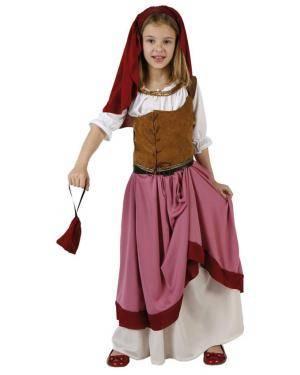 Fato Leiteira Medieval Rosa Menina Disfarces A Casa do Carnaval.pt