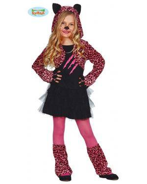 Fato Leopardo Rosa para Menina, Loja de Fatos Carnaval, Disfarces, Artigos para Festas, Acessórios de Carnaval, Mascaras, Perucas 179 acasadocarnaval.pt