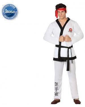 Fato Lutador Karate Adulto Disfarces A Casa do Carnaval.pt
