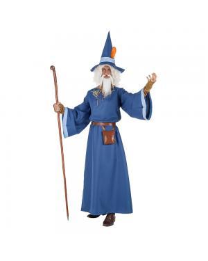 Fato Mago Azul Adulto para Carnaval