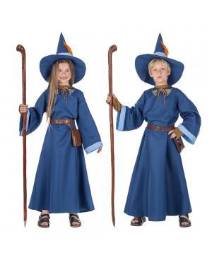 Fato Mago Azul Criança para Carnaval
