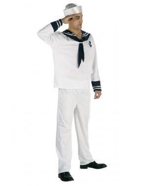 Fato Marinheiro Adulto T. M/L Disfarces A Casa do Carnaval.pt