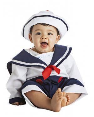 Fato Marinheiro Bebé 0-6 Meses para Carnaval